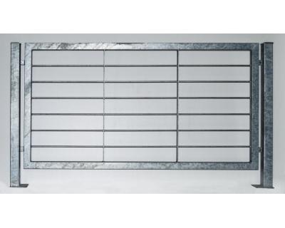 Kovový plot z ocelových profilů - výplň kulatina