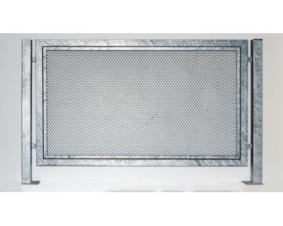 Kovový plot z ocelových profilů - výplň tahokov