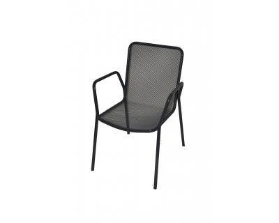 Kovová venkovní židle - materiál tahokov